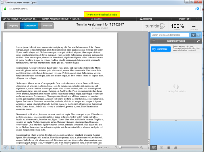 Classic TurnItIn EOL for Faculty 2