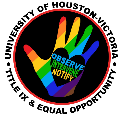 Title IX and Equal Opportunity logo with rainbow hand and words
